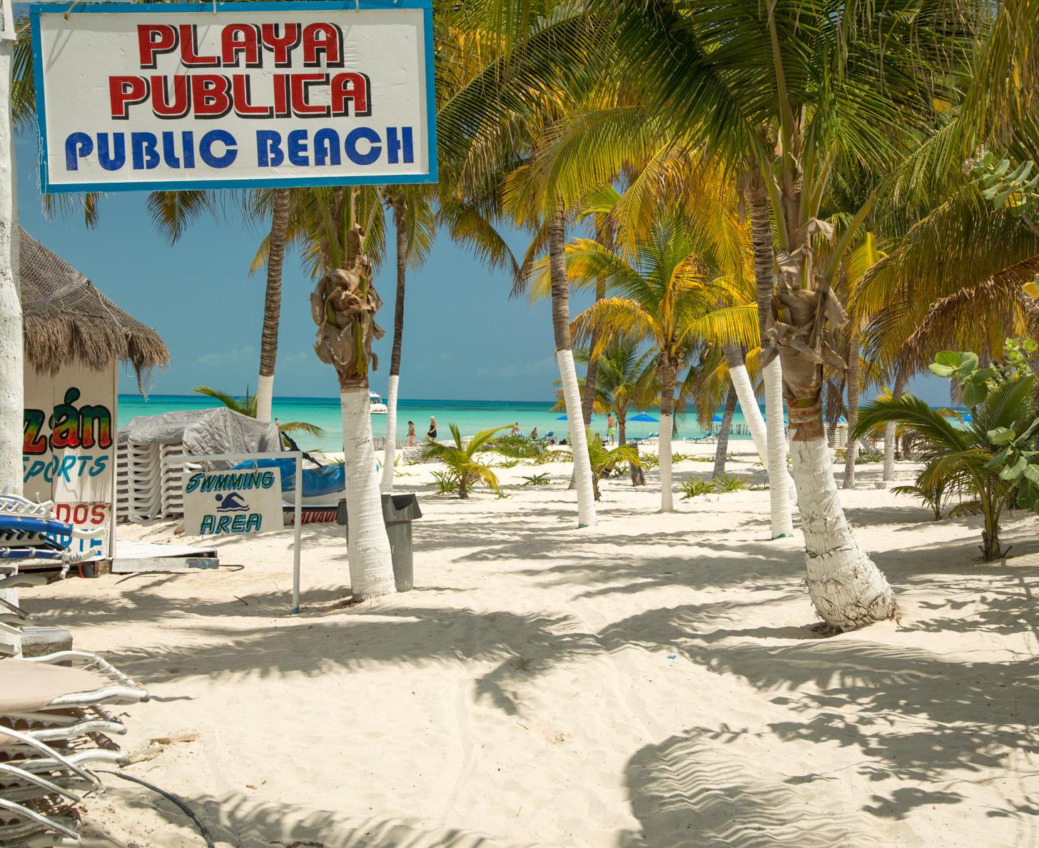 Een strand op Isla Mujeres