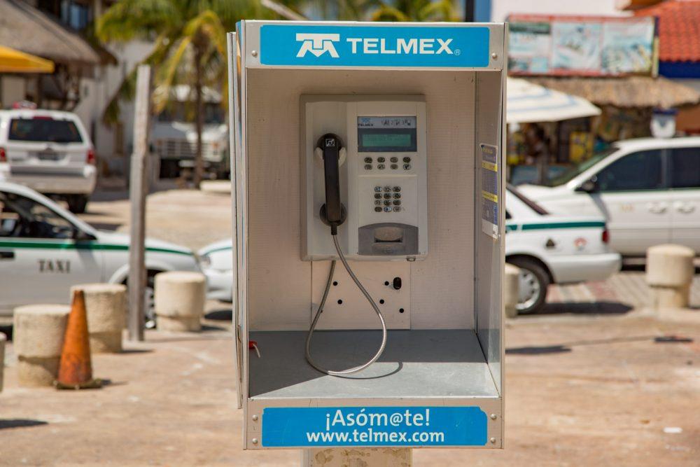 Telefooncel in Cancun