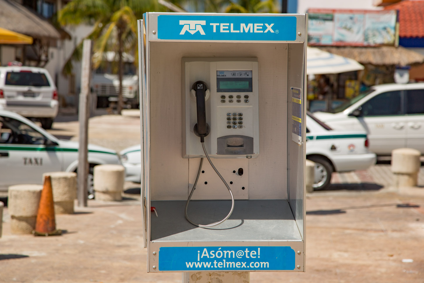Telefooncel in Cancun