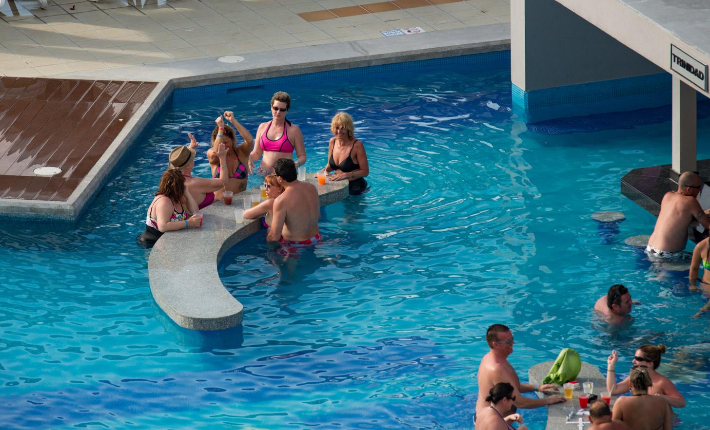 Amerikanen op vakantie in Cancun