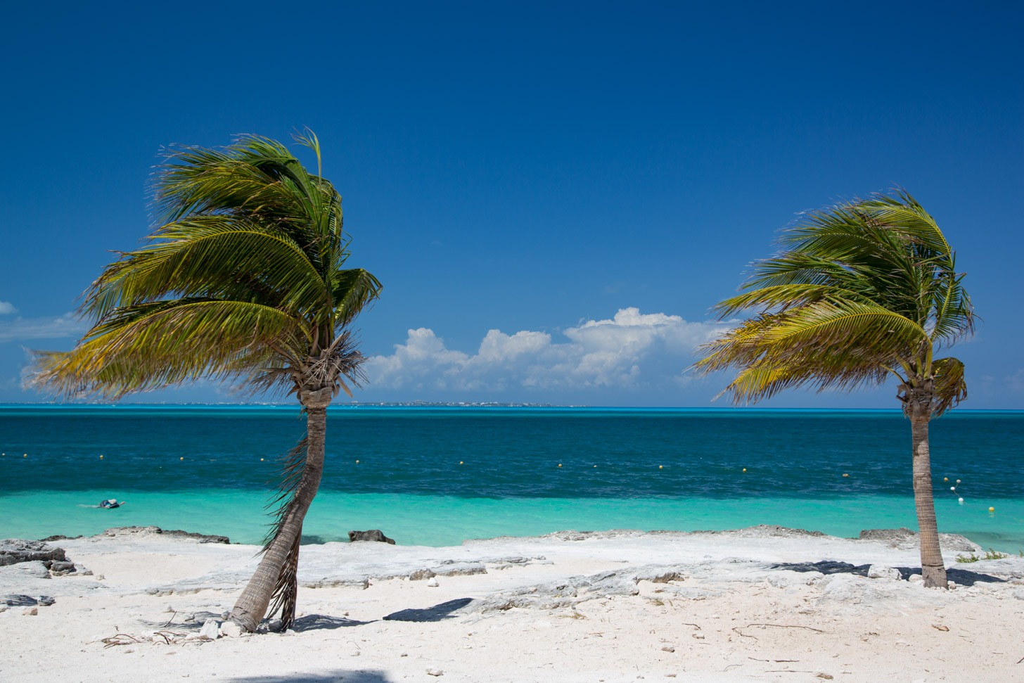 Heerlijk zonnig weer in Cancun